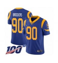 Men's Los Angeles Rams #90 Michael Brockers Royal Blue Alternate Vapor Untouchable Limited Player 100th Season Football Jersey