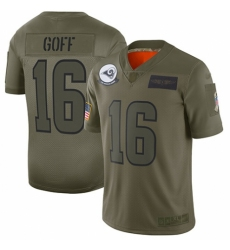Women's Los Angeles Rams #16 Jared Goff Limited Camo 2019 Salute to Service Football Jersey