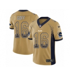 Youth Nike Los Angeles Rams #16 Jared Goff Limited Gold Rush Drift Fashion NFL Jersey