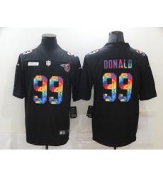 Men's Los Angeles Rams #99 Aaron Donald Rainbow Version Nike Limited Jersey