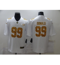 Men's Los Angeles Rams #99 Aaron Donald White Nike Leopard Print Limited Jersey