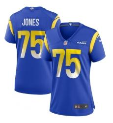 Women's Los Angeles Rams #75 Deacon Jones Nike Royal Game Retired Player Jersey