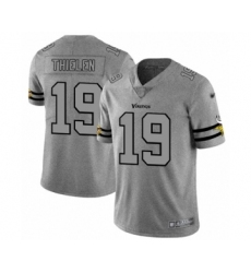 Men's Minnesota Vikings #19 Adam Thielen Limited Gray Team Logo Gridiron Football Jersey