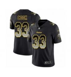 Men's Minnesota Vikings #33 Dalvin Cook Limited Black Smoke Fashion Football Jersey