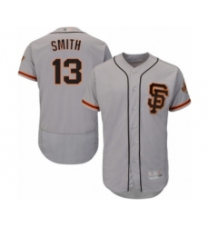 Men's San Francisco Giants #13 Will Smith Grey Alternate Flex Base Authentic Collection Baseball Jersey