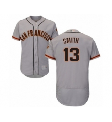 Men's San Francisco Giants #13 Will Smith Grey Road Flex Base Authentic Collection Baseball Jersey
