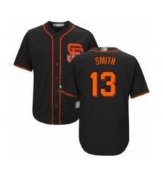 Men's San Francisco Giants #13 Will Smith Replica Black Alternate Cool Base Baseball Jersey