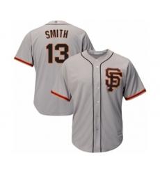 Men's San Francisco Giants #13 Will Smith Replica Grey Road 2 Cool Base Baseball Jersey