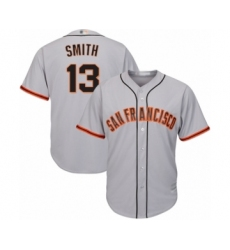 Men's San Francisco Giants #13 Will Smith Replica Grey Road Cool Base Baseball Jersey
