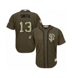 Youth San Francisco Giants #13 Will Smith Authentic Green Salute to Service Baseball Jersey