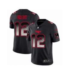 Men New England Patriots #12 Tom Brady Black Smoke Fashion Limited Jersey