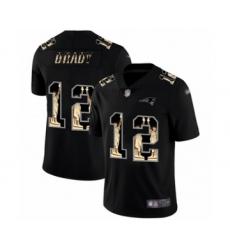 Men's New England Patriots #12 Tom Brady Limited Black Statue of Liberty Football Jersey