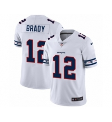 Men's New England Patriots #12 Tom Brady White Team Logo Cool Edition Jersey