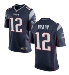 Men's Nike New England Patriots #12 Tom Brady Game Navy Blue Team Color NFL Jersey