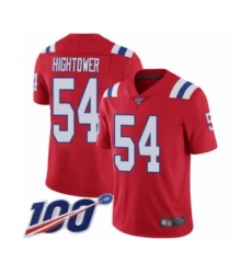 Men's New England Patriots #54 Dont'a Hightower Red Alternate Vapor Untouchable Limited Player 100th Season Football Jersey