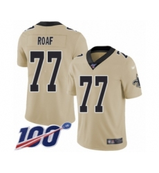Youth New Orleans Saints #77 Willie Roaf Limited Gold Inverted Legend 100th Season Football Jersey