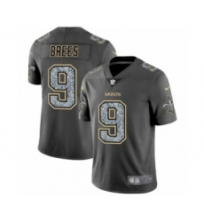 Men's New Orleans Saints #9 Drew Brees Limited Gray Static Fashion Limited Football Jersey