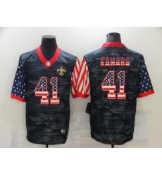 Men's New Orleans Saints #41 Alvin Kamara Camo Flag Nike Limited Jersey