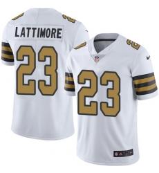 Youth Nike New Orleans Saints #23 Marshon Lattimore Limited White Rush Vapor Untouchable NFL Jersey