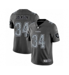 Men's Oakland Raiders #34 Bo Jackson Limited Gray Static Fashion Limited Football Jersey