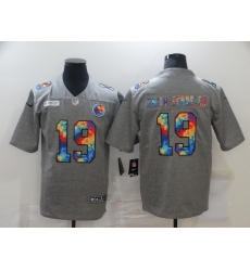 Men's Pittsburgh Steelers #19 JuJu Smith-Schuster Gray Rainbow Version Nike Limited Jersey