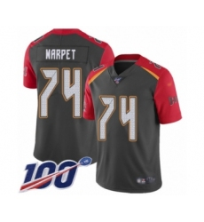 Men's Tampa Bay Buccaneers #74 Ali Marpet Limited Gray Inverted Legend 100th Season Football Jersey