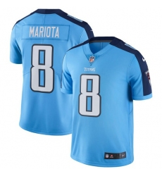Men's Nike Tennessee Titans #8 Marcus Mariota Light Blue Team Color Vapor Untouchable Limited Player NFL Jersey