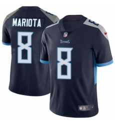 Men's Nike Tennessee Titans #8 Marcus Mariota Navy Blue Team Color Vapor Untouchable Limited Player 2018 NFL Jersey