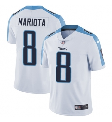 Men's Nike Tennessee Titans #8 Marcus Mariota White Vapor Untouchable Limited Player NFL Jersey