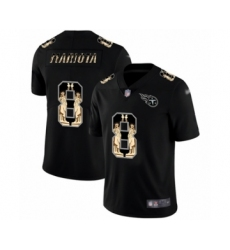 Men's Tennessee Titans #8 Marcus Mariota Limited Black Statue of Liberty Football Jersey