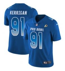 Women's Nike Washington Redskins #91 Ryan Kerrigan Limited Royal Blue 2018 Pro Bowl NFL Jersey