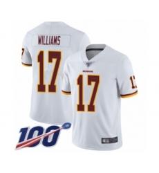 Men's Washington Redskins #17 Doug Williams White Vapor Untouchable Limited Player 100th Season Football Jersey