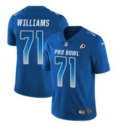 Men's Nike Washington Redskins #71 Brandon Scherff Limited Royal Blue 2018 Pro Bowl NFL Jersey
