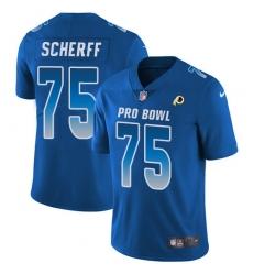 Men's Nike Washington Redskins #75 Brandon Scherff Limited Royal Blue 2018 Pro Bowl NFL Jersey