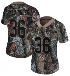 Women's Nike Washington Redskins #36 D   Swearinger Limited Camo Rush Realtree NFL Jersey