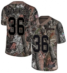 Youth Nike Washington Redskins #36 D J  Swearinger Limited Camo Rush Realtree NFL Jersey
