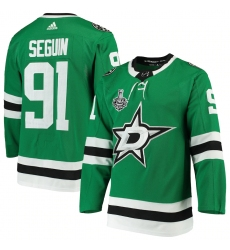 Men's Dallas Stars #91 Tyler Seguin adidas Kelly Green 2020 Stanley Cup Final Bound Authentic Player Jersey
