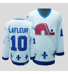 Nordiques #10 Guy Lafleur Stitched CCM Throwback white NHL Jersey