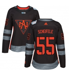 Women's Adidas Team North America #55 Mark Scheifele Premier Black Away 2016 World Cup of Hockey Jersey