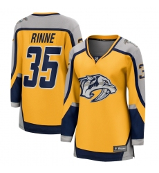 Women's Nashville Predators #35 Pekka Rinne Fanatics Branded Gold 2020-21 Special Edition Breakaway Player Jersey