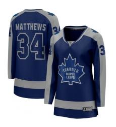 Women's Toronto Maple Leafs #34 Auston Matthews Fanatics Branded Royal 2020-21 Special Edition Breakaway Player Jersey