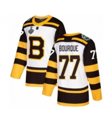 Men's Boston Bruins #77 Ray Bourque Authentic White Winter Classic 2019 Stanley Cup Final Bound Hockey Jersey