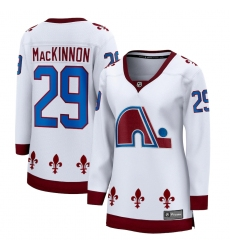 Women's Colorado Avalanche #29 Nathan MacKinnon Fanatics Branded White 2020-21 Special Edition Breakaway Player Jersey