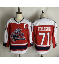 Men's Columbus Blue Jackets #71 Nick Foligno Red Authentic Classic Stitched Jersey