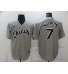 Men's Majestic Chicago White Sox #7 Tim Anderson Grey MLB Jersey