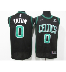 Men's Boston Celtics #0 Jayson Tatum Nike Black Swingman Player Jersey