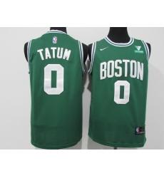 Men's Boston Celtics #0 Jayson Tatum Nike Green Swingman Player Jersey