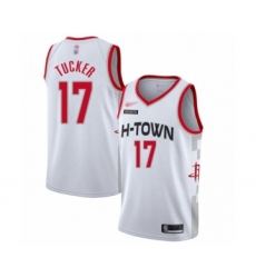 Youth Houston Rockets #17 PJ Tucker Swingman White Basketball Jersey - 2019 20 City Edition