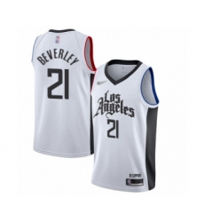 Youth Los Angeles Clippers #21 Patrick Beverley Swingman White Basketball Jersey - 2019 20 City Edition