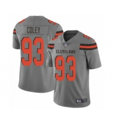 Men's Cleveland Browns #93 Trevon Coley Limited Gray Inverted Legend Football Jersey